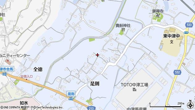 大分県中津市是則544周辺の地図