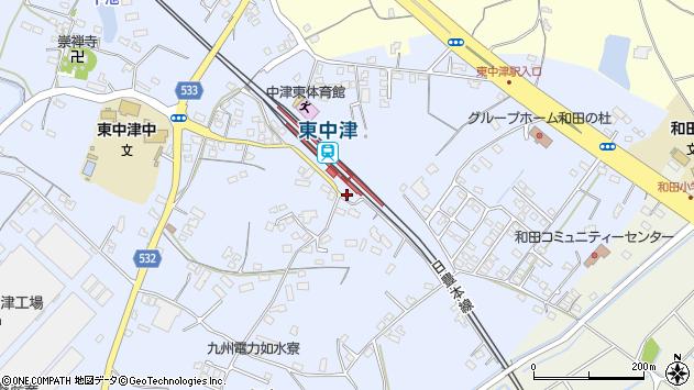 大分県中津市是則1310周辺の地図