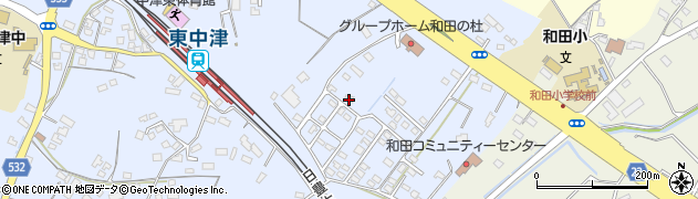 大分県中津市是則1376周辺の地図