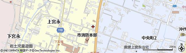 大分県中津市上宮永382周辺の地図