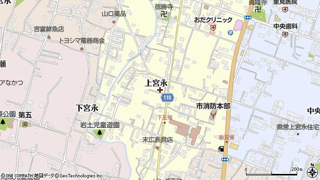 大分県中津市上宮永1045周辺の地図