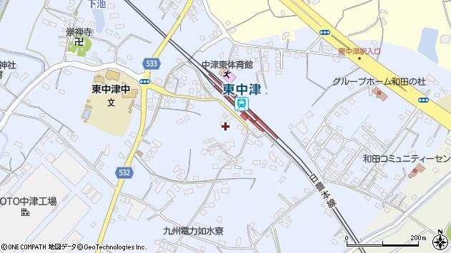 大分県中津市是則971周辺の地図