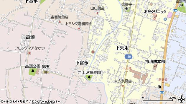 大分県中津市上宮永1287周辺の地図