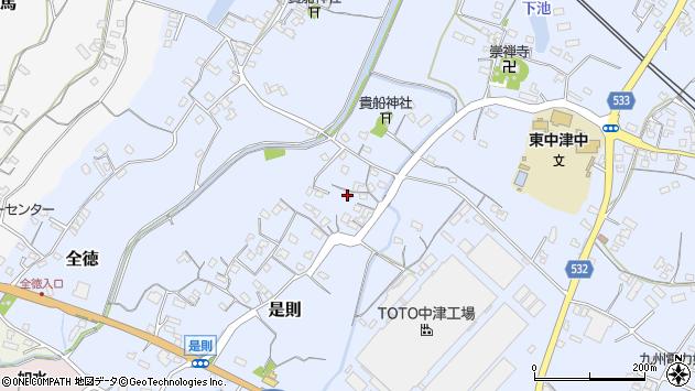 大分県中津市是則138周辺の地図