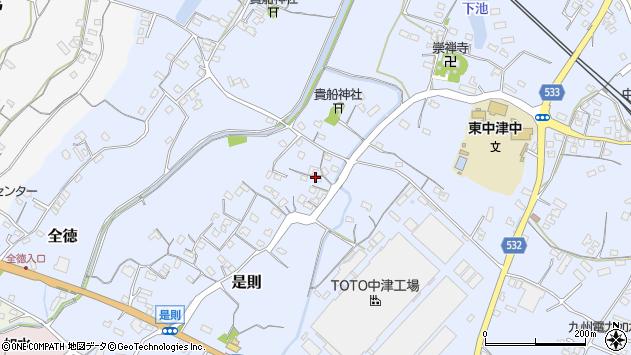 大分県中津市是則237周辺の地図