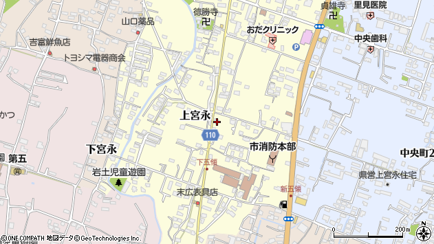 大分県中津市上宮永974周辺の地図