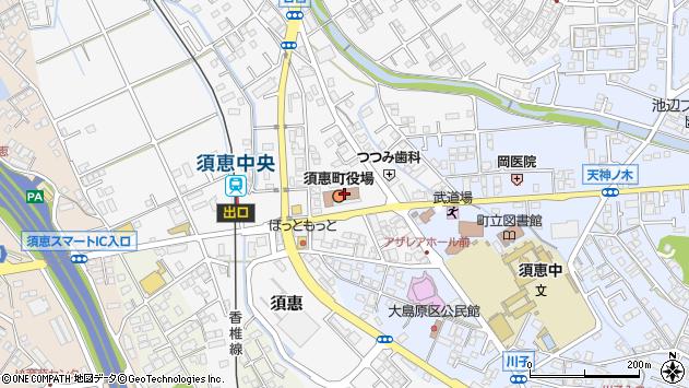 福岡県糟屋郡須恵町周辺の地図