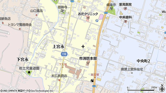 大分県中津市上宮永288周辺の地図