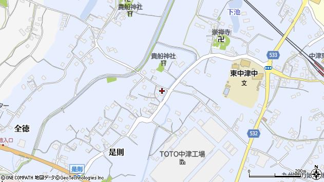 大分県中津市是則245周辺の地図