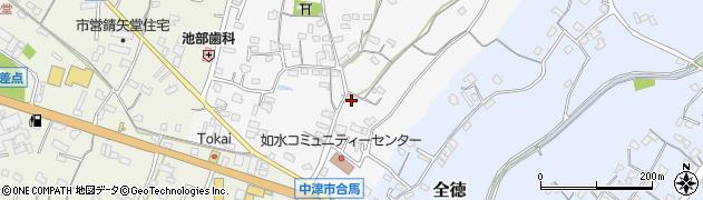 大分県中津市合馬502周辺の地図