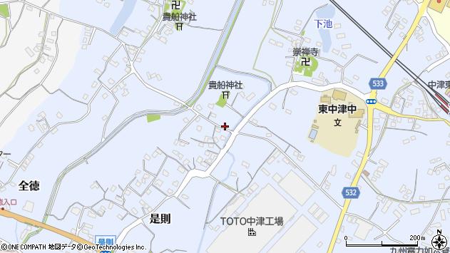 大分県中津市是則262周辺の地図