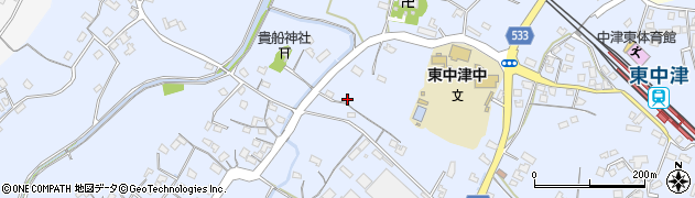 大分県中津市是則539周辺の地図