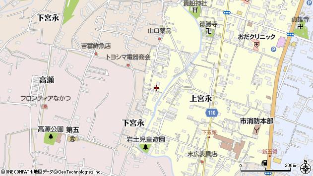 大分県中津市上宮永1279周辺の地図
