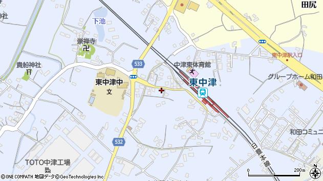 大分県中津市是則867周辺の地図