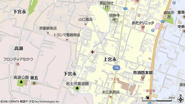 大分県中津市上宮永1020周辺の地図