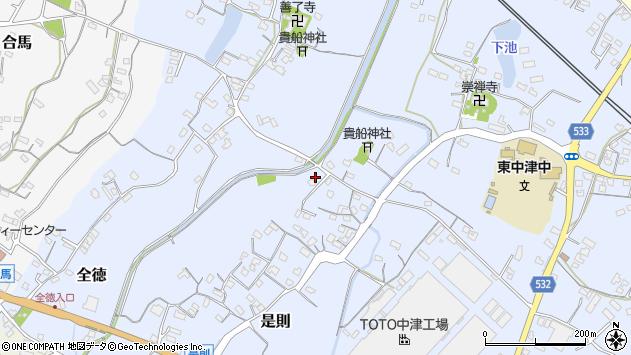 大分県中津市是則214周辺の地図