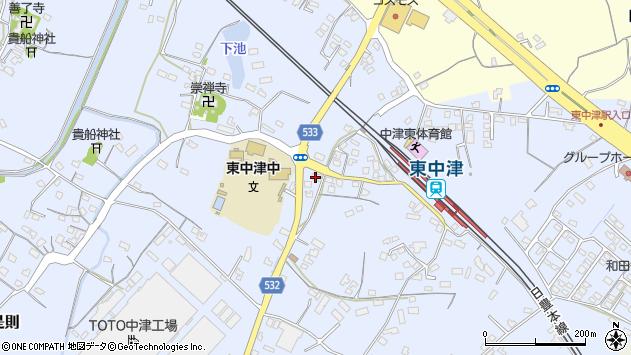 大分県中津市是則855周辺の地図