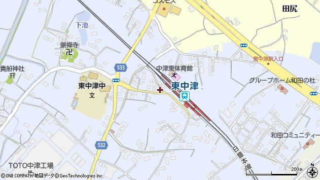 大分県中津市是則912周辺の地図
