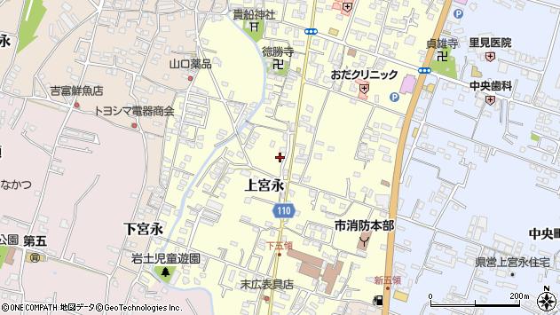 大分県中津市上宮永1047周辺の地図