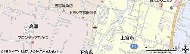 大分県中津市上宮永1277周辺の地図