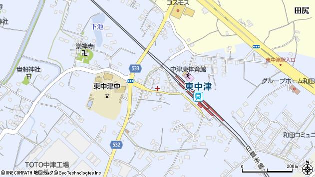 大分県中津市是則863周辺の地図