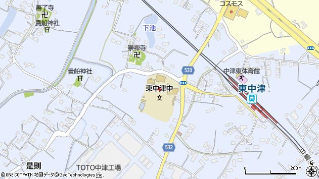 大分県中津市是則845周辺の地図