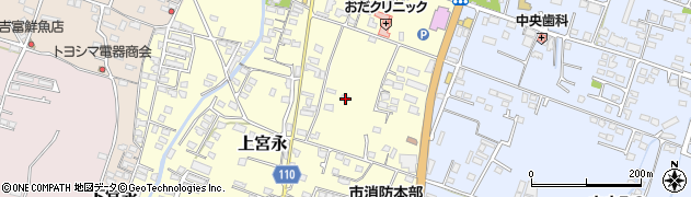 大分県中津市上宮永283周辺の地図