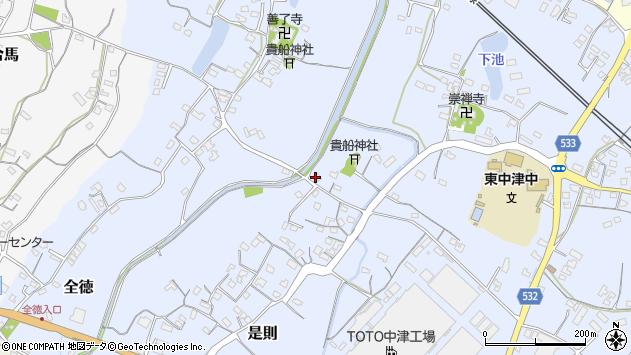 大分県中津市是則255周辺の地図