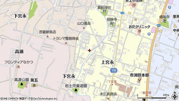 大分県中津市上宮永1256周辺の地図