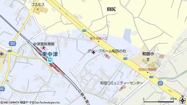 大分県中津市是則1333周辺の地図