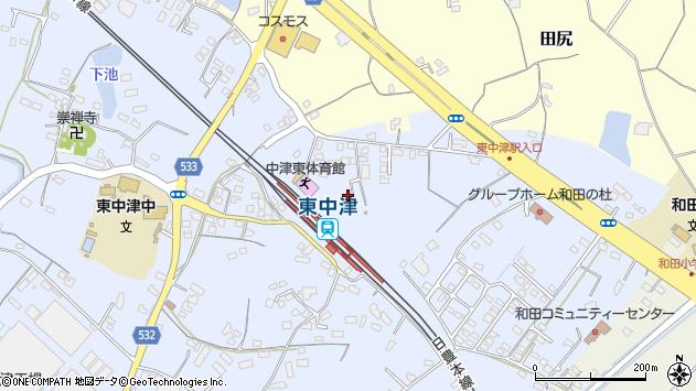 大分県中津市是則957周辺の地図