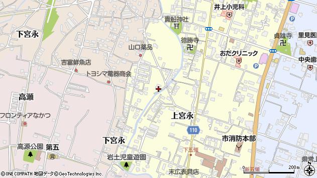 大分県中津市上宮永1250周辺の地図