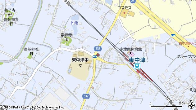 大分県中津市是則858周辺の地図