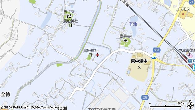 大分県中津市是則273周辺の地図
