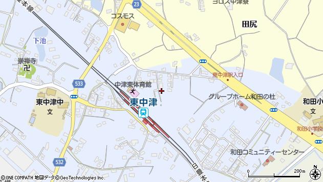 大分県中津市是則951周辺の地図