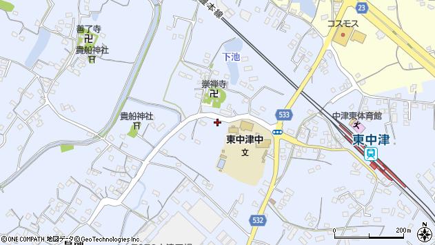 大分県中津市是則520周辺の地図