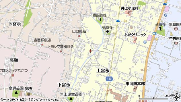 大分県中津市上宮永1248周辺の地図