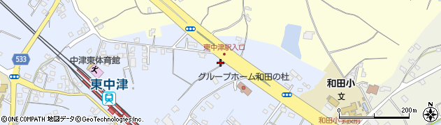 大分県中津市是則1337周辺の地図