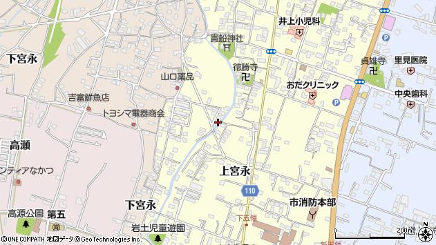 大分県中津市上宮永1242周辺の地図