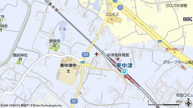 大分県中津市是則919周辺の地図