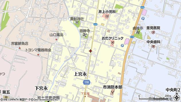 大分県中津市上宮永967周辺の地図