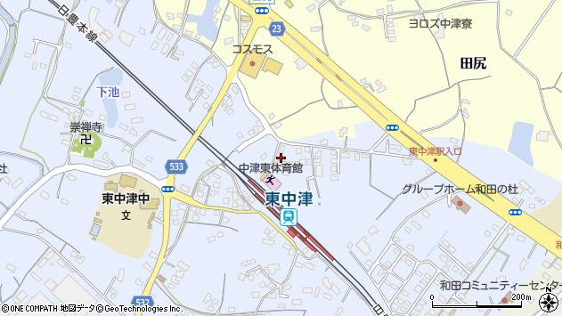 大分県中津市是則955周辺の地図