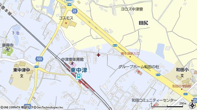 大分県中津市是則952周辺の地図