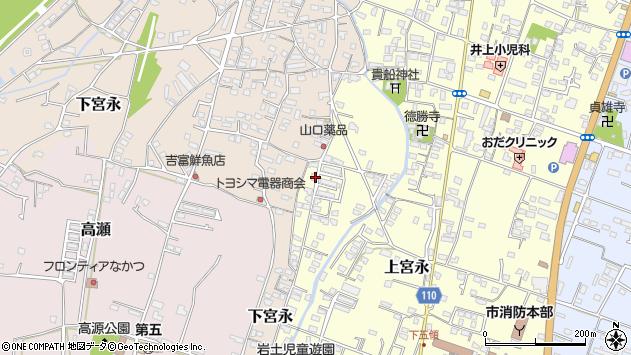 大分県中津市上宮永1261周辺の地図