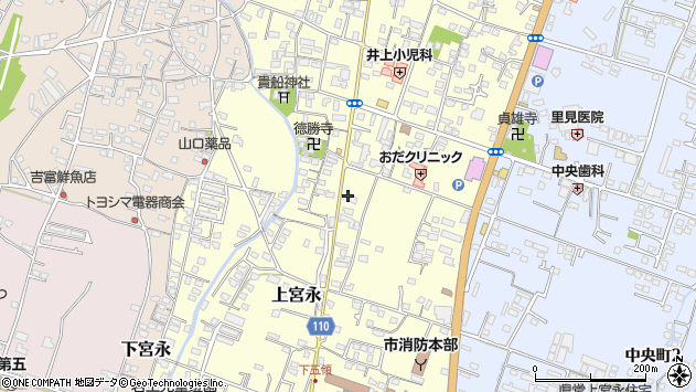 大分県中津市上宮永966周辺の地図