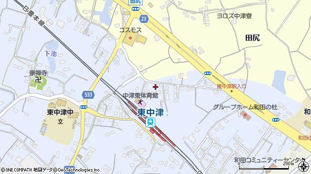 大分県中津市是則954周辺の地図