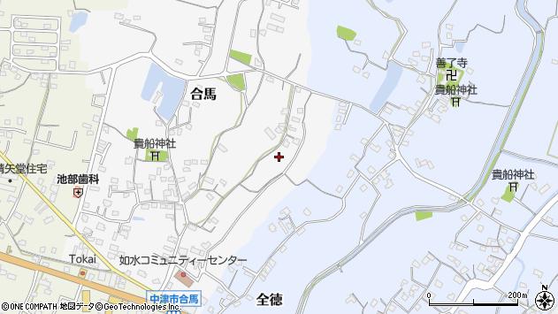 大分県中津市合馬46周辺の地図