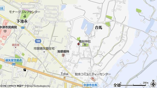 大分県中津市合馬403周辺の地図