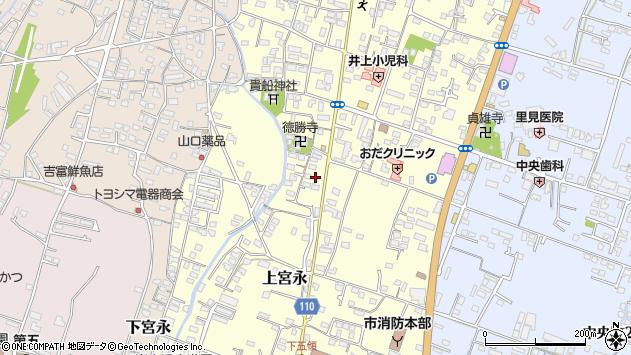大分県中津市上宮永1075周辺の地図