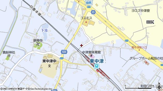 大分県中津市是則925周辺の地図